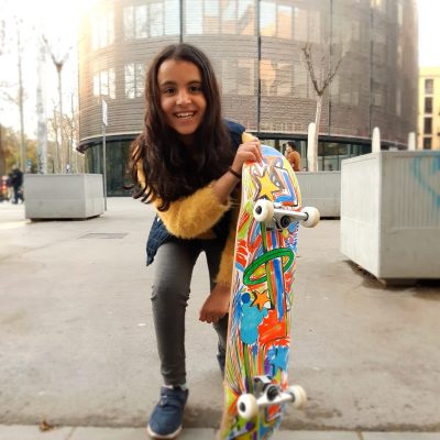 Charity OnBoard Girl with skateboard