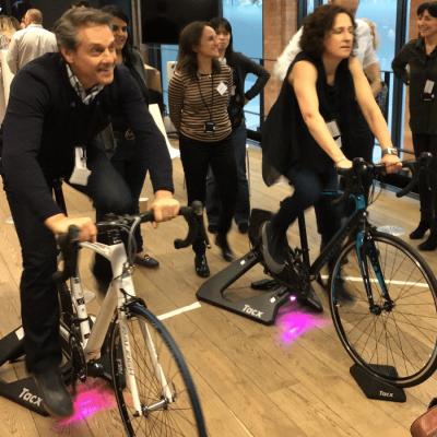 Bike simulator team building