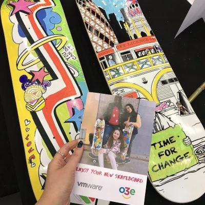 CSR team building skateboards