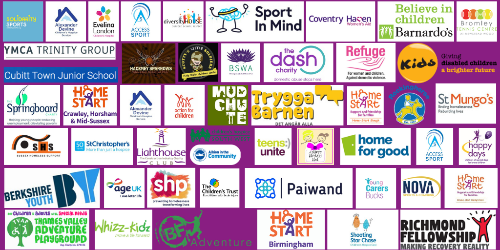Charities supported by o3e team building